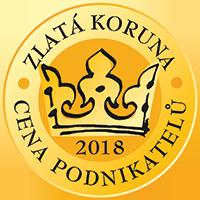 Zlatá koruna 2018 - Cena podnikatelů - 1. místo